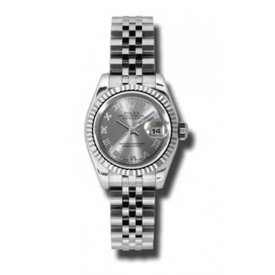 Rolex Lady-Datejust Rhodium Roman Jubilee 179174