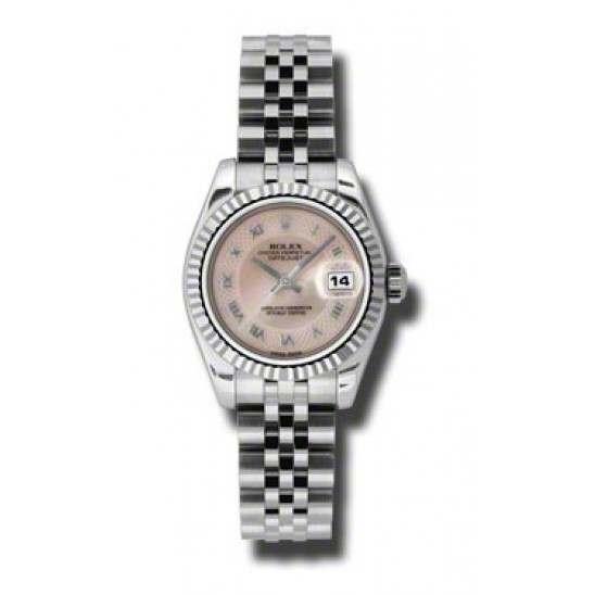Rolex Lady-Datejust Pink mop Roman Jubilee 179174