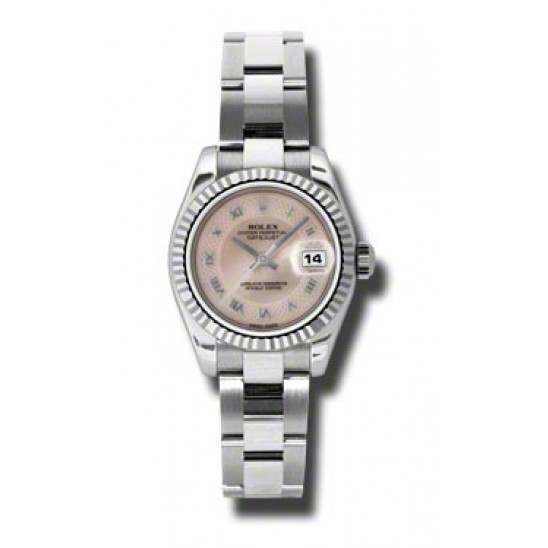 Rolex Lady-Datejust Pink mop Roman Oyster 179174