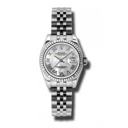 Rolex Lady-Datejust White mop Roman Jubilee 179174