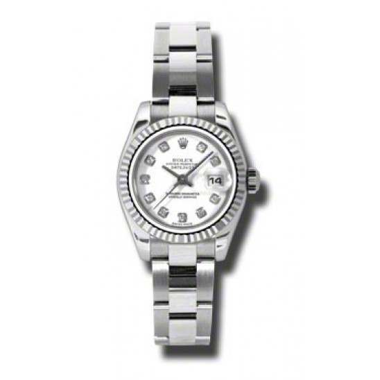 Rolex Lady-Datejust White/Diamond Oyster 179174