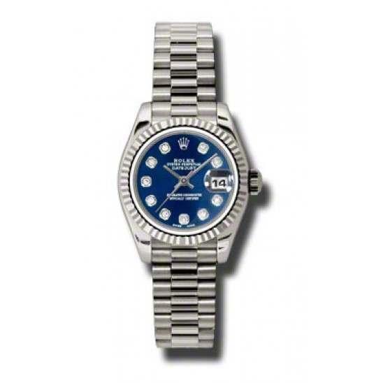 Rolex Lady-Datejust Blue/Diamond President 179179