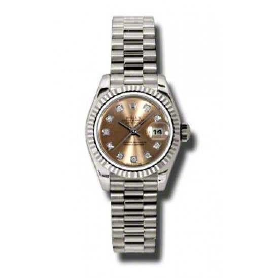 Rolex Lady-Datejust Pink/Diamond President 179179