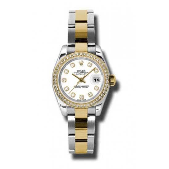 Rolex Lady-Datejust White/Diamond Oyster 179383