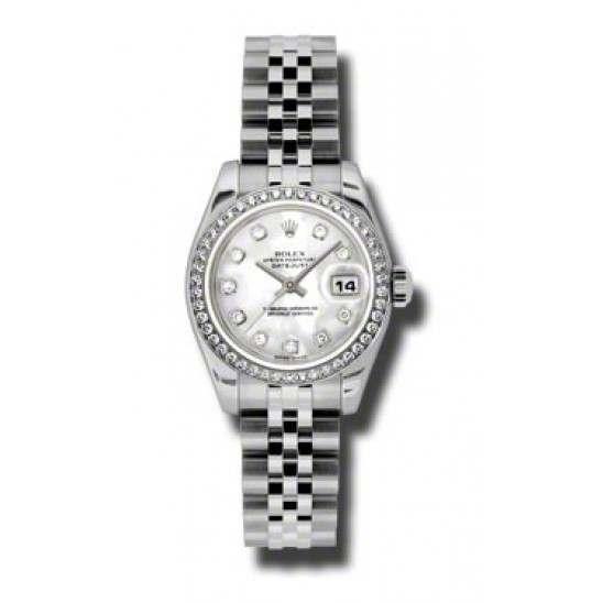 Rolex Lady-Datejust White mop/Diamond Jubilee 179384