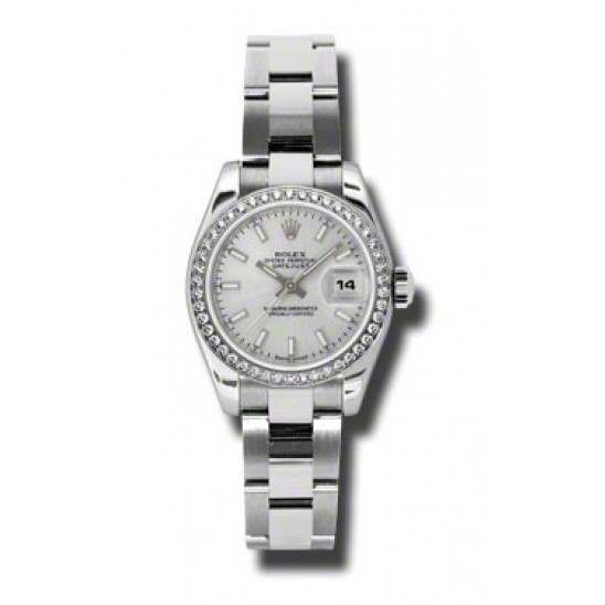 Rolex Lady-Datejust Silver/index Oyster 179384