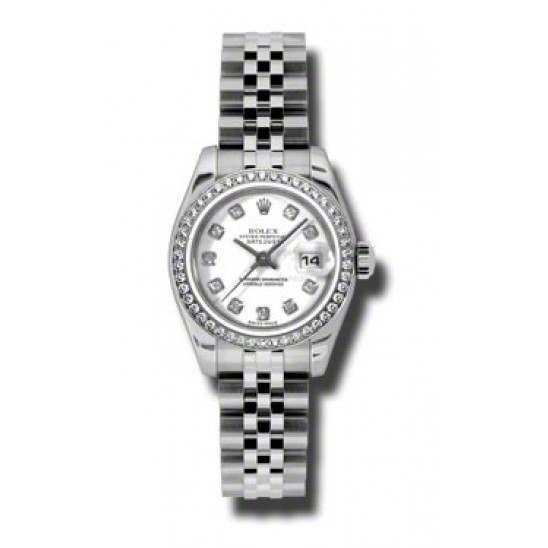 Rolex Lady-Datejust White/Diamond Jubilee 179384