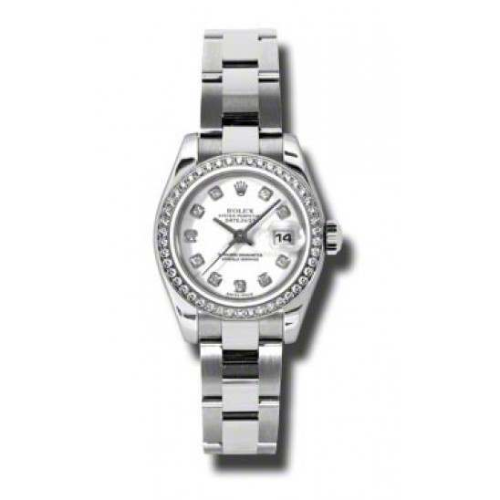 Rolex Lady-Datejust White/Diamond Oyster 179384