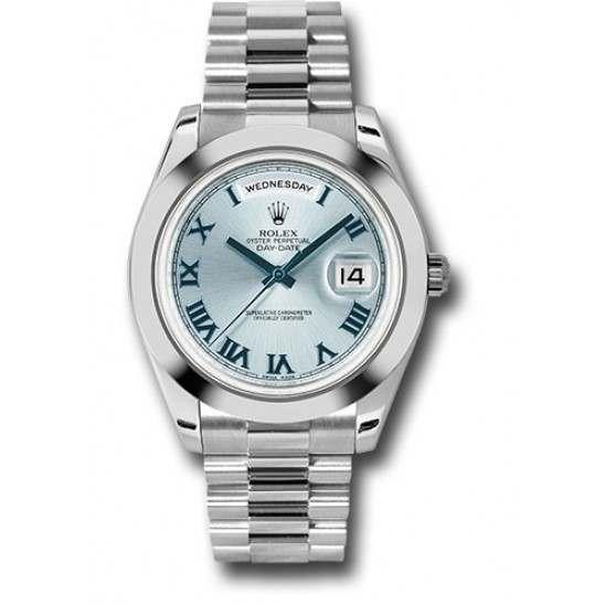 Rolex Day-Date II Ice Blue Roman President 218206
