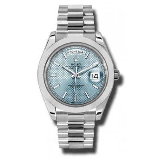Rolex Day Date 40 Ice Blue/ Index Platinum 228206