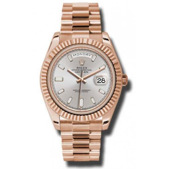 Rolex Day-Date 40 Sundust/diamond President Rose Gold 228235