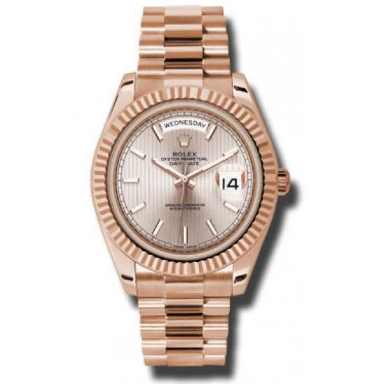 Rolex Day-Date 40 Sundust/index President Rose Gold 228235 Basel 2015