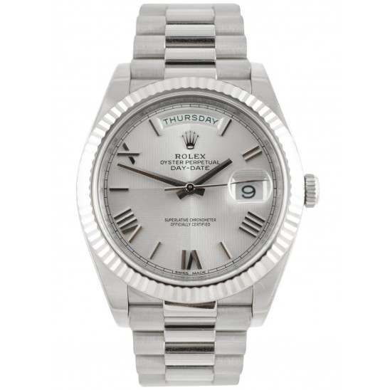 Rolex Day Date Silver/ Roman White Gold 228239 Basel 2015