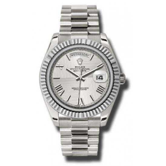 Rolex Day Date Silver/ Roman White Gold 228239 Basel 2015