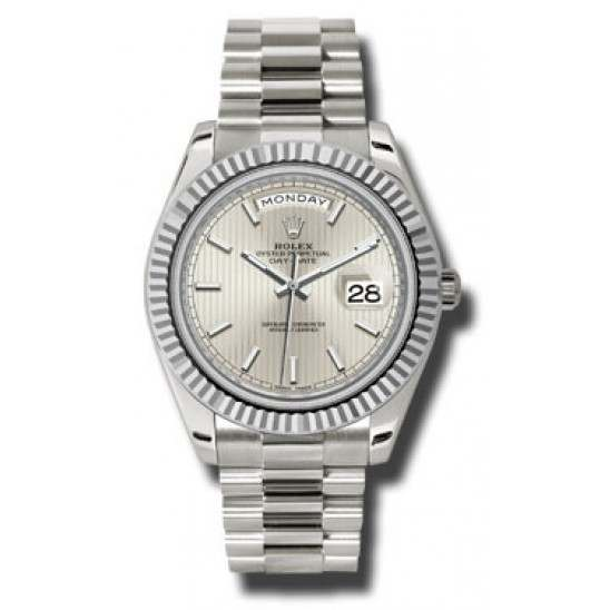 Rolex Day Date Silver/ Index White Gold 228239 Basel 2015