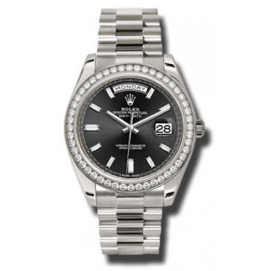 Rolex Day Date Black Dial White Gold 228349RBR Basel 2015