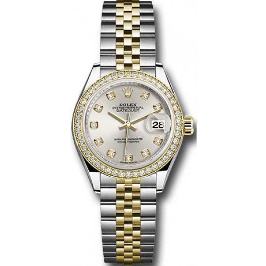 Rolex Lady Datejust 28 Steel&Gold Silver/ Diamond Oyster 279383RBR