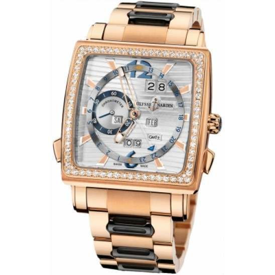 Ulysee Nardin Quadrato Dual Time Perpetual 326-90B-8M/91