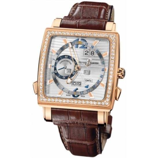 Ulysee Nardin Quadrato Dual Time Perpetual 326-90B/91