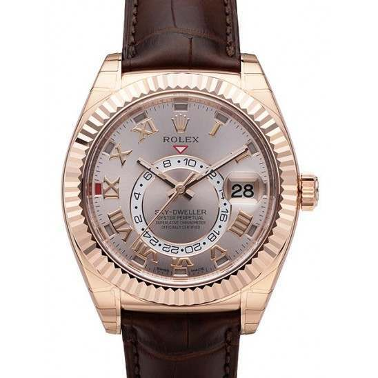 Rolex Sky-Dweller Sundust Roman Leather 326135