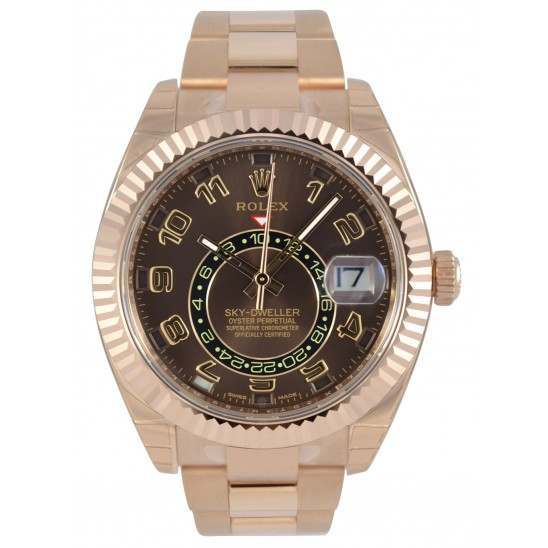 Rolex Sky-Dweller Chocolate Arab Oyster 326935
