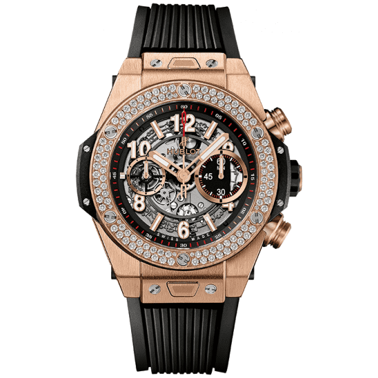 Hublot Unico King Gold Diamonds 411.OX.1180.RX.1104