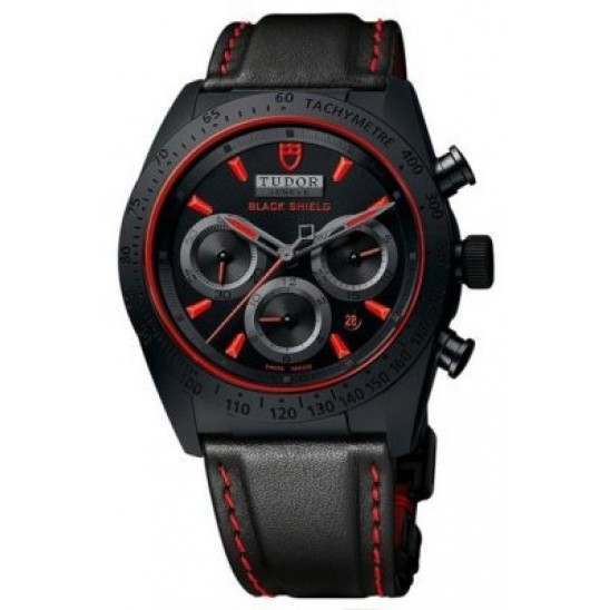 Tudor Fastrider Black Shield Leather 42000CR