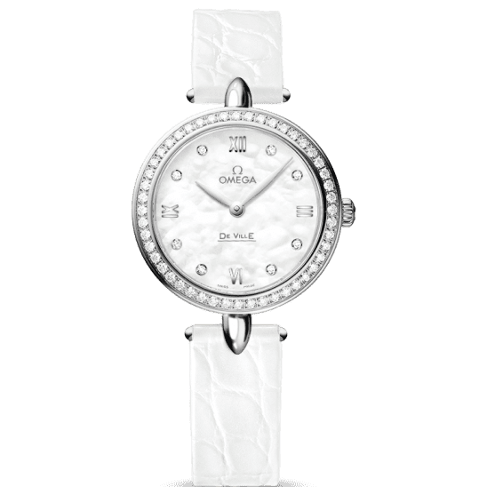 Omega De Ville Prestige Dewdrop Quartz 424.18.27.60.55.001