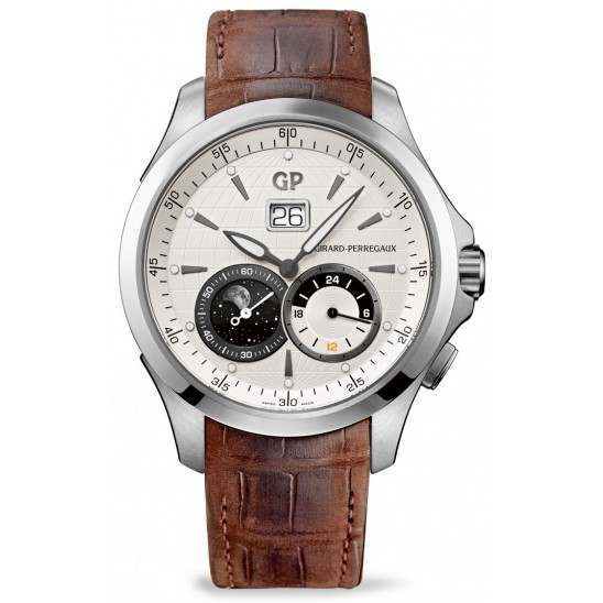 Girard Perregaux Traveller Large Date, Moonphase&GMT 49655-11-132-BB6A