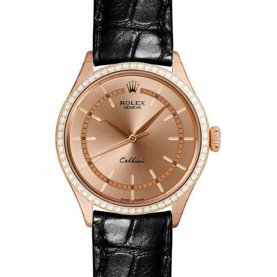 Rolex Cellini Everose gold 50705RBR Basel 2015