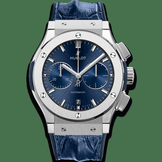Hublot Blue Chronograph Titanium 521.NX.7170.LR