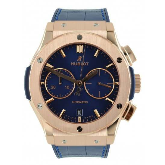 Hublot Blue Chronograph King Gold 521.OX.7180.LR