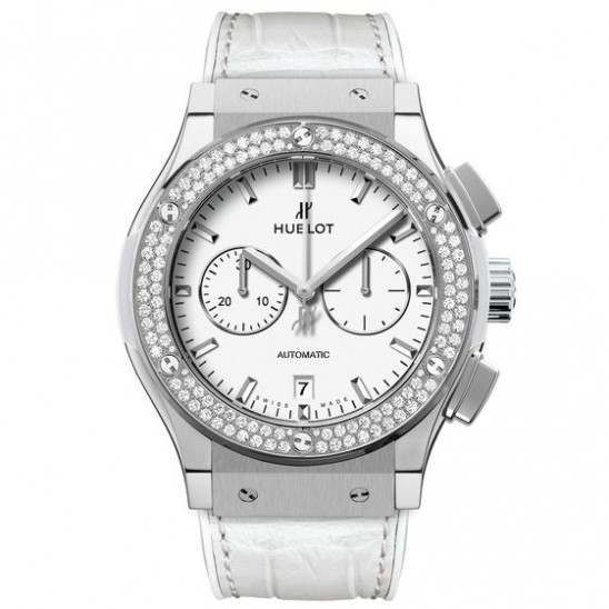 Hublot Chronograph Titanium White Diamonds 541.NE.2010.LR.1104