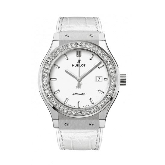 Hublot Titanium White Diamonds 542.NE.2010.LR.1204