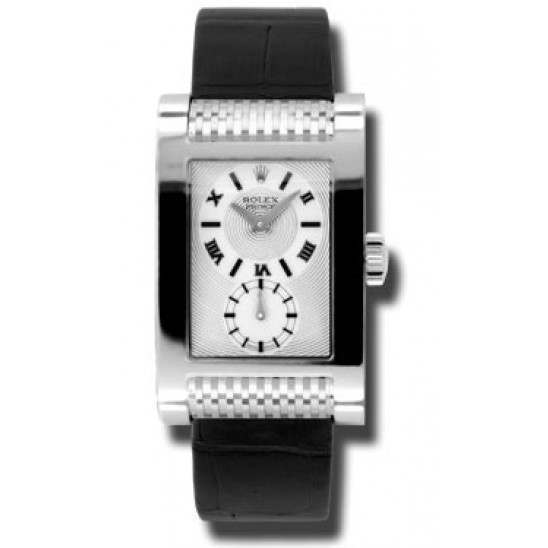 Rolex Prince Silver Roman Leather 5441/9