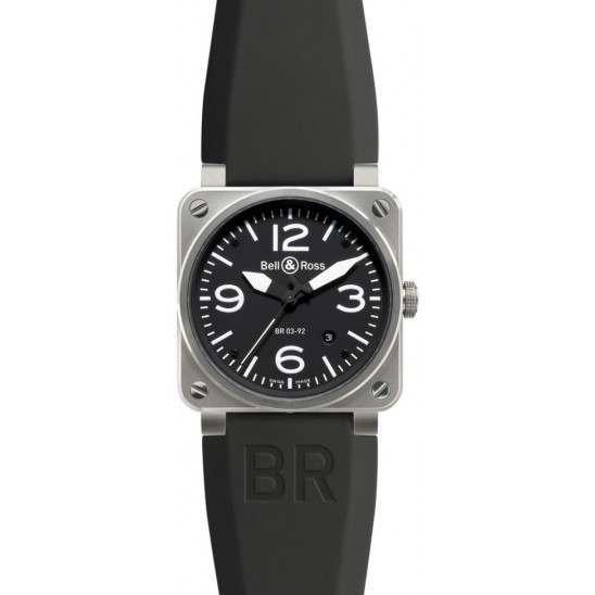 Bell & Ross BR 03-92 Steel BR0392-BL-ST