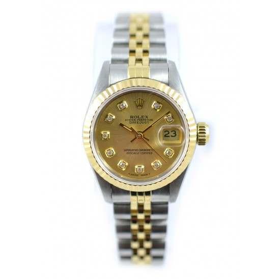 Rolex Lady Datejust after set Champagne diamond  69173