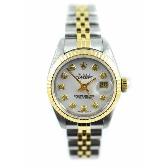 Rolex Lady Datejust after set White diamond - 69173