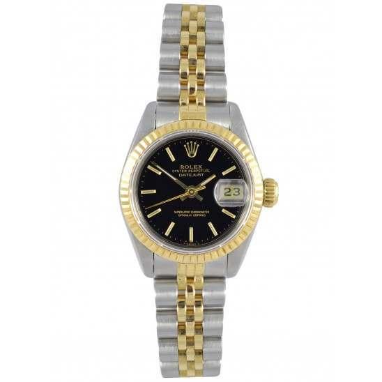 Rolex Lady Datejust after set Black index Jubilee - 69173