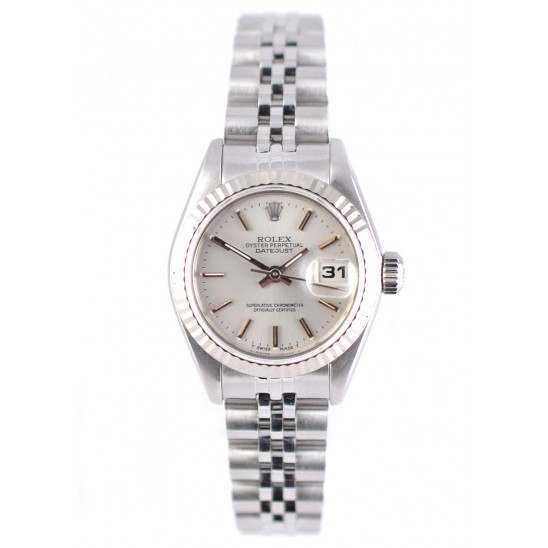 Ladies Rolex Datejust Mint Pre-owned Stainless Steel front