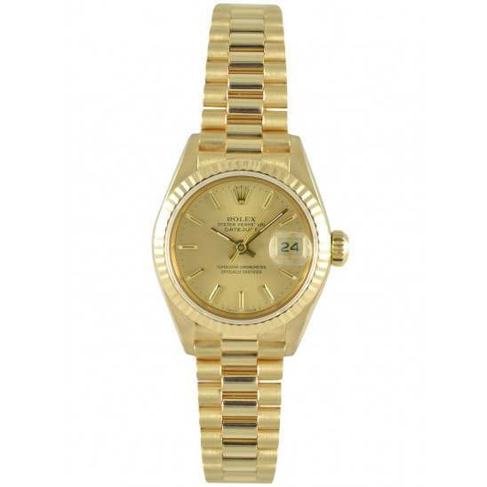 Rolex Datejust Yellow Gold Champagne Dial 69178
