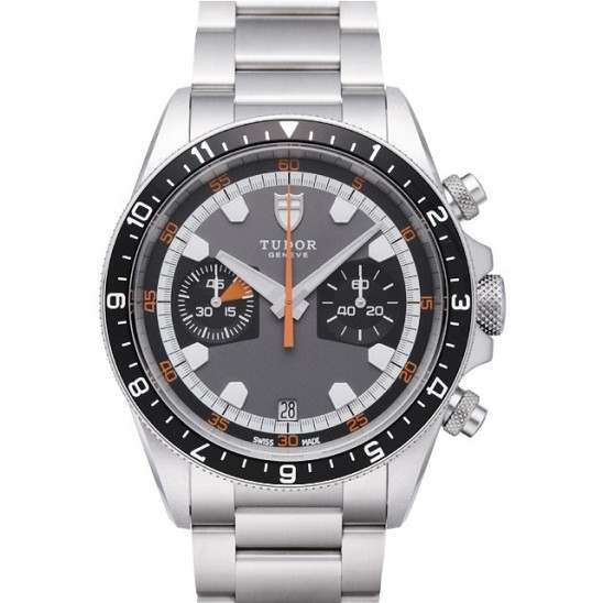 Tudor Heritage Chronograph Watch 70330N Grey