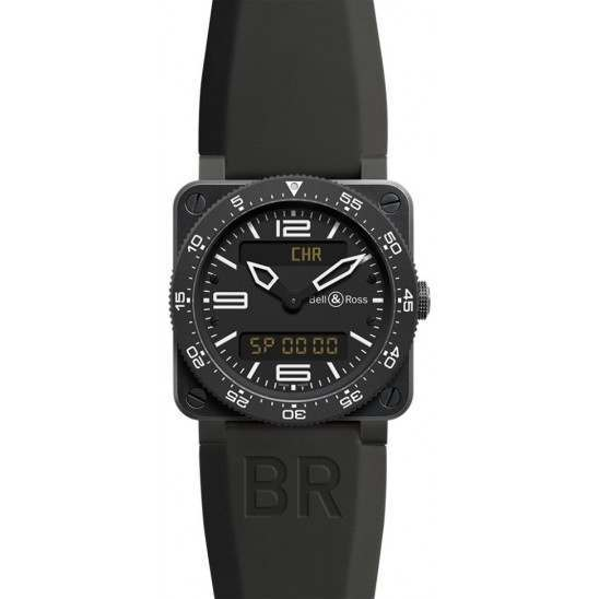 Bell & Ross BR 03 Type Aviation Carbon BR0392-AVIA-CA
