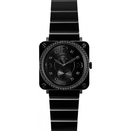 Bell & Ross BR S Quartz Phantom Diamond BRS-BLC-PH-LGD/SCE