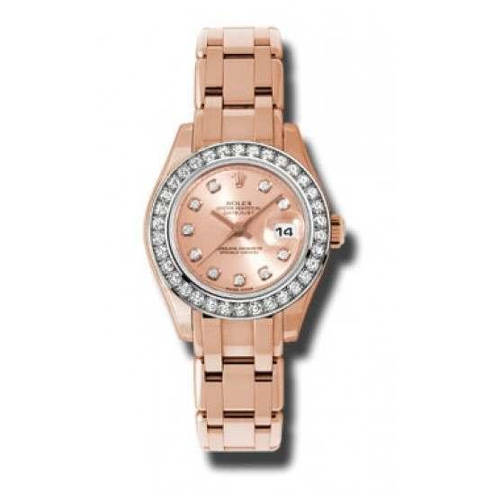 Rolex Pearlmaster Lady Everose Gold Pink/diamond 80285