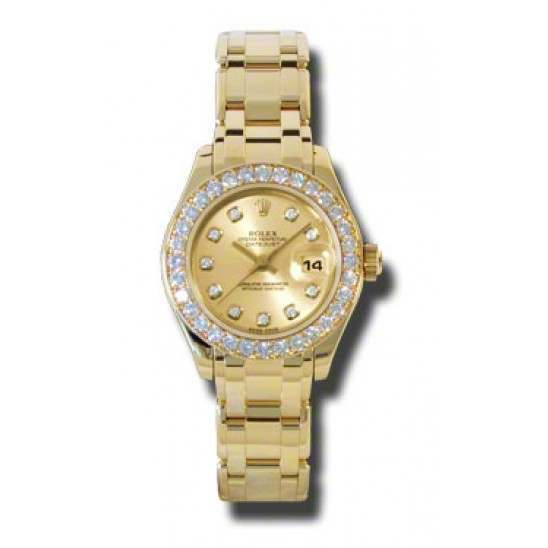 Rolex Lady Pearlmaster Champagne/diamond 80298