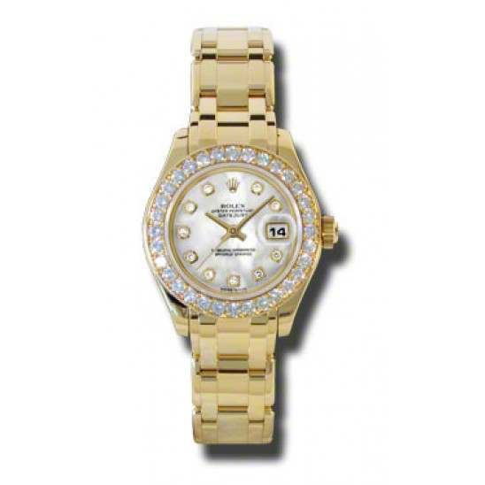 Rolex Lady Pearlmaster White mop/diamond 80298