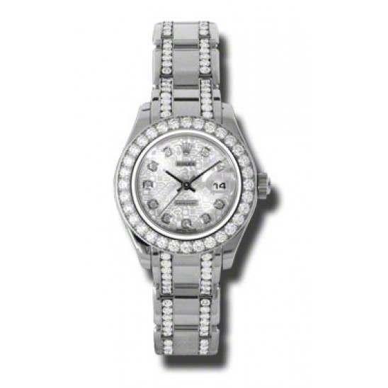 Rolex Pearlmaster Lady Silver Jub/diamond 80299