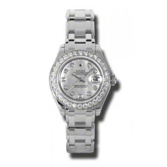 Rolex Pearlmaster Lady White mop/diamond 80299