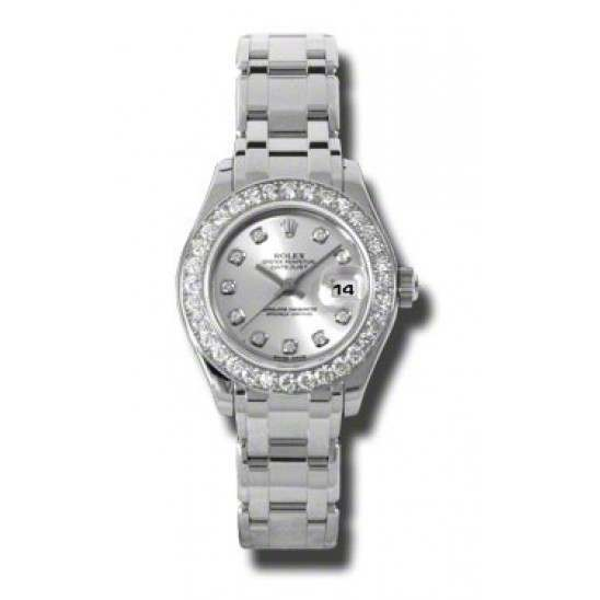 Rolex Pearlmaster Lady Silver/diamond 80299